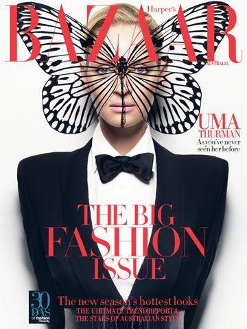 Harper's Bazaar cover, Uma Thurman