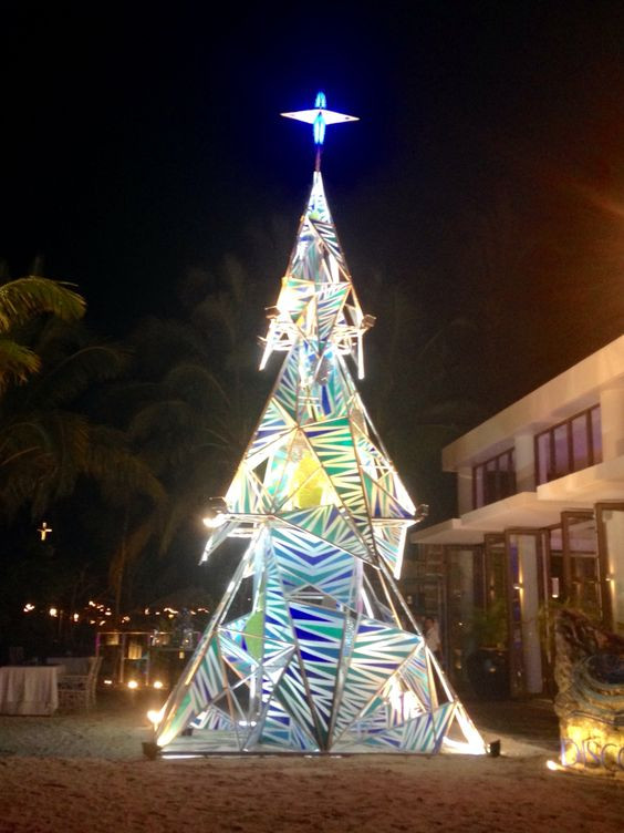 Christmas tree installation at Discovery Shores, Boracay, Philippines