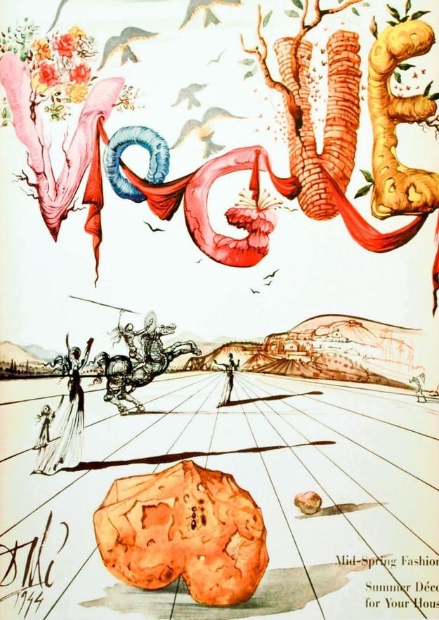 Vogue cover by Salvador Dali, Dec.1971