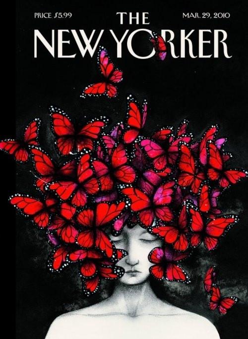 Νew Yorker cover,Isabella Blow, March 2010