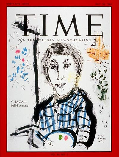 Marc Chagall's self portrait for Time Magazine