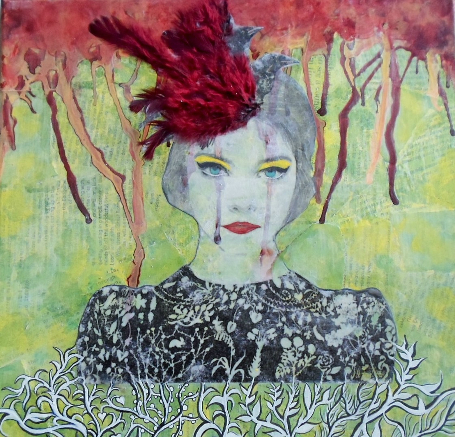 """Birds in my head"" artwork"