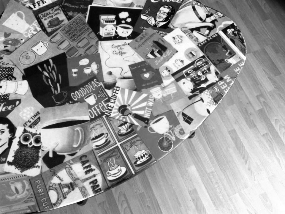 Coffee table collage!