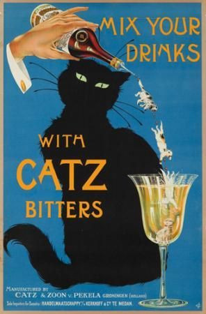 Vintage black cat ad