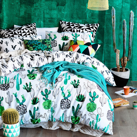 Cactus inspired art, home decor & fashion