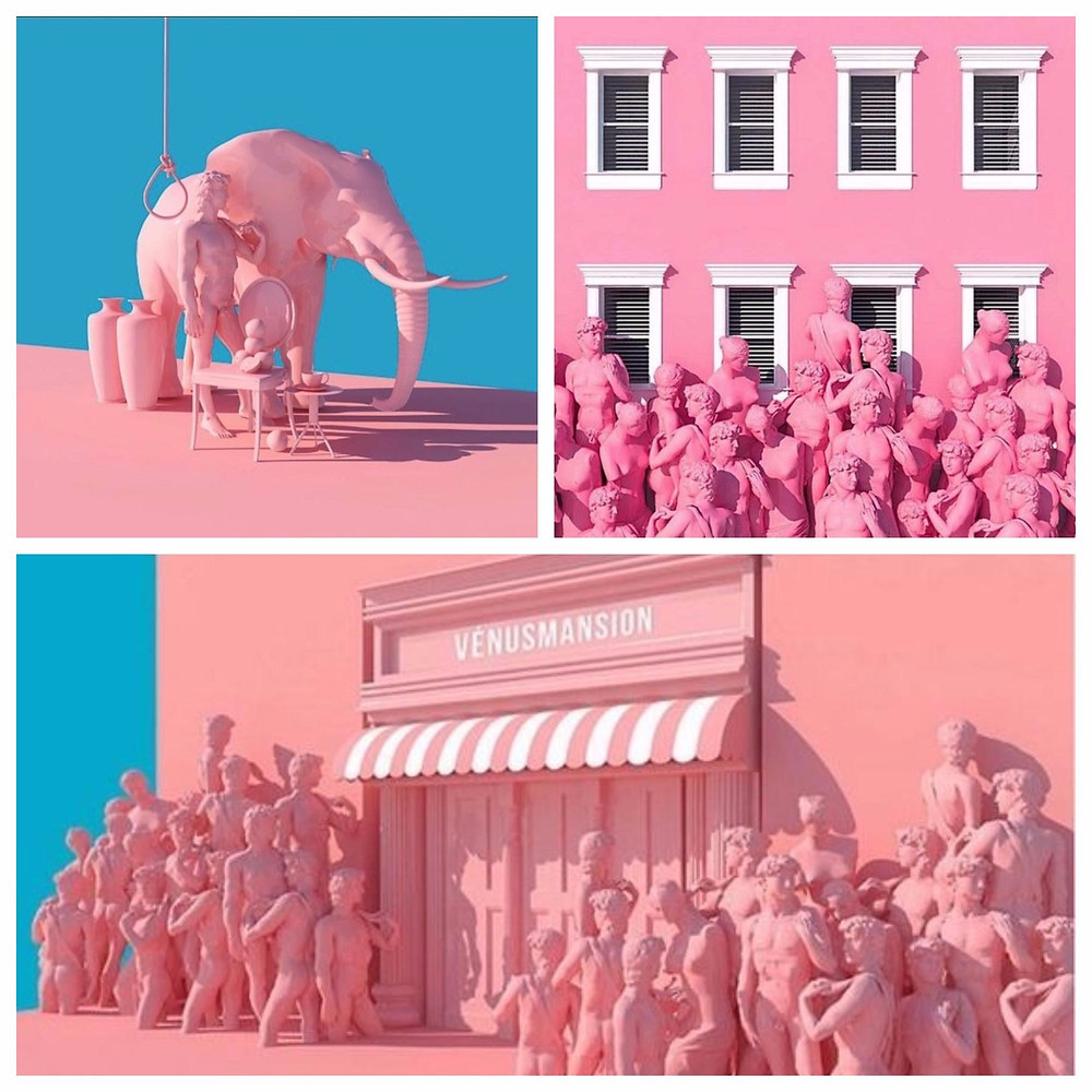 Surreal Pink Scenes by Lee Sol