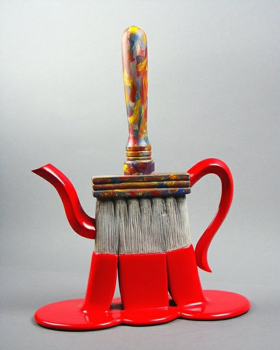 paintbrush teapot