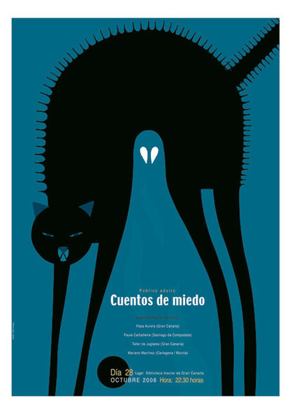 Cat poster by Pablo Amargo