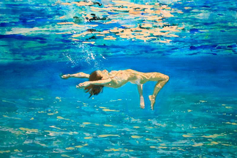 Maria Filopoulou, Underwater Swimmer