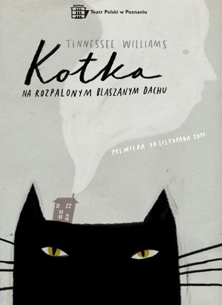 Cat Poster by Polish illustrator María Inés