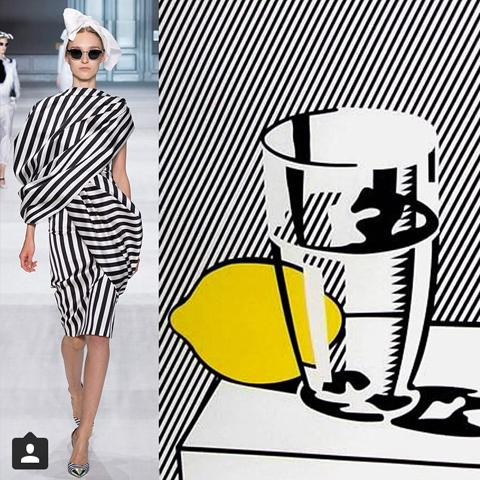 fashion inpired by Roy Lichtenstein