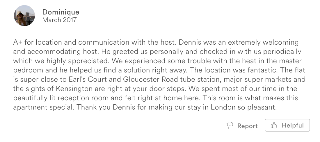 Airbnb Review London