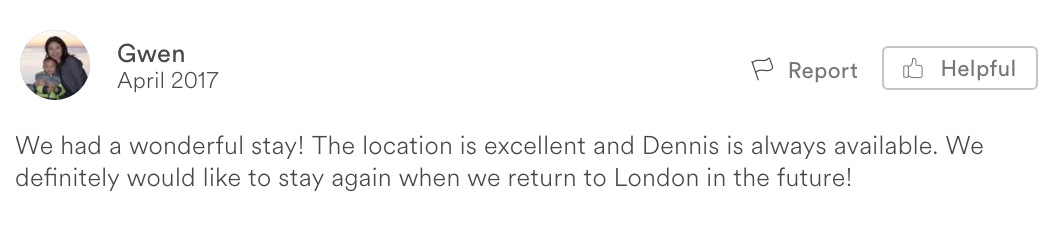 Airbnb Review: London