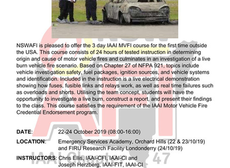 IAAI Motor Vehicle Fire Investigation Course