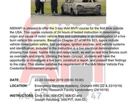 IAAI Motor Vehicle Fire Investigation Course