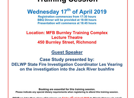 VAFI Training Seminar: Jack River bushfire case study