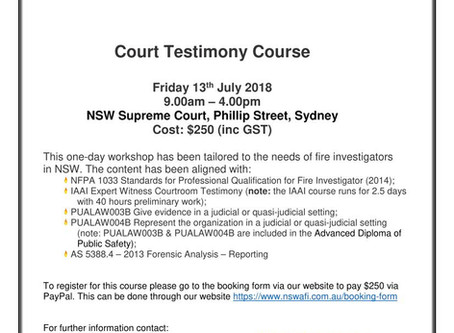 Courtroom Testimony Training Course