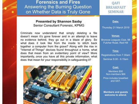 21/3/19 QAFI Conference: Forensics and Fires