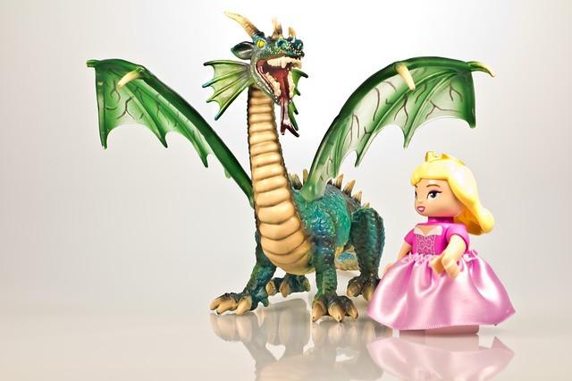 Storytelling - dragon and princess