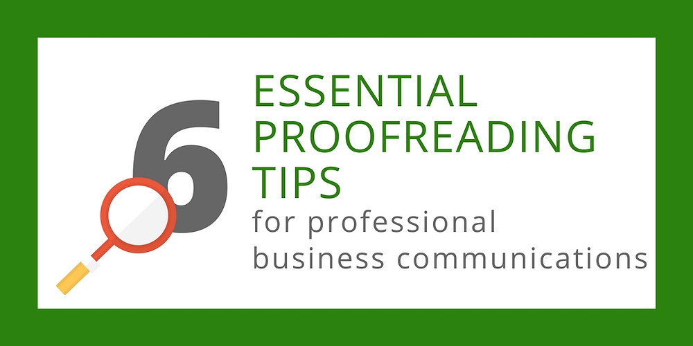 6 essential proofreading tips