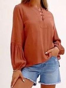 Olivia Shirt Rust
