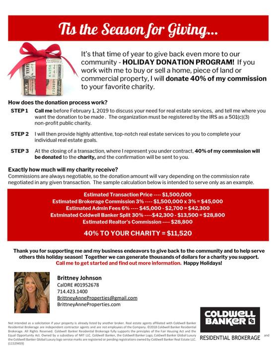 Holiday Donation Program