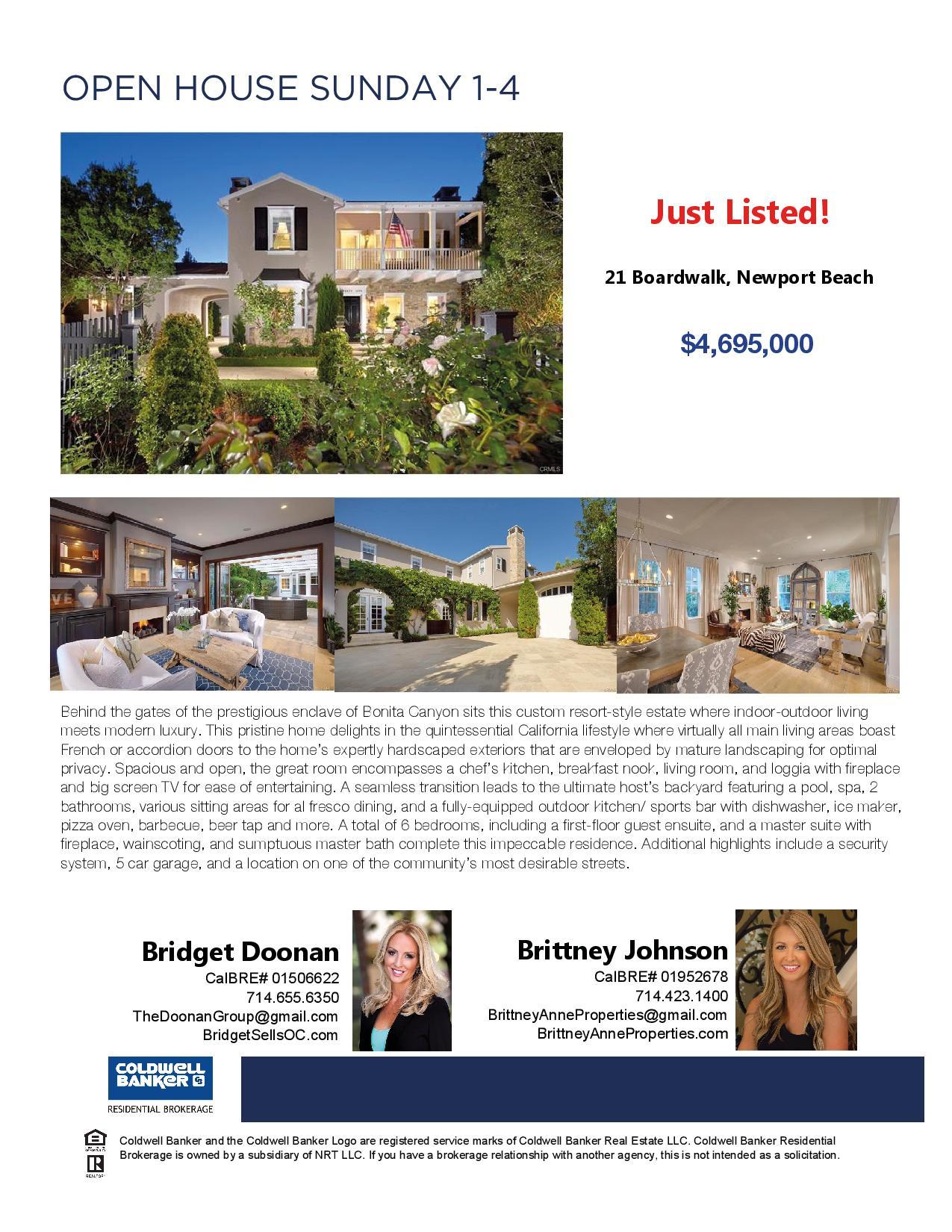 Open House - Newport Beach | Home | Brittney Anne Properties, Realtor