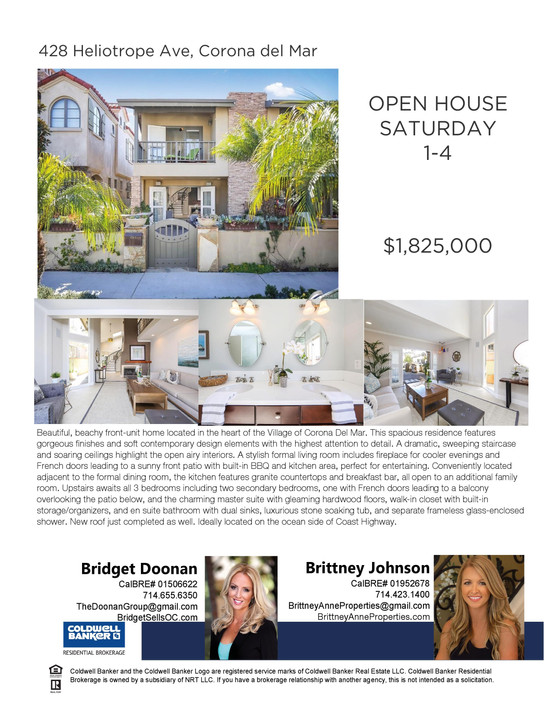 Open House - Corona del Mar