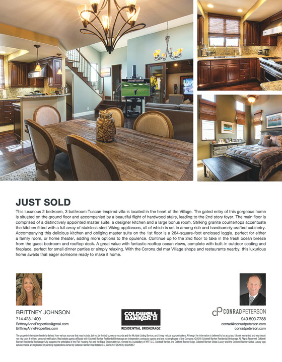 Just Sold in the Village - Corona del Mar