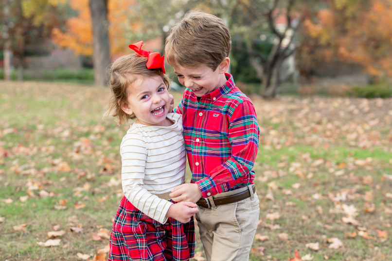 Rye NY New York Jo Bryan fall mini session park leaves tartan plaid boy girl siblings natural light family photo session JoBryan photo photography