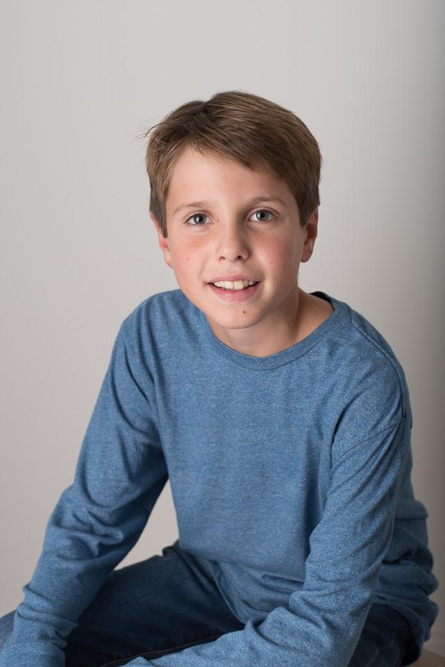 Rye NY New York Jo Bryan JoBryan photo photography solo young boy smiling studio portrait natural light smiling