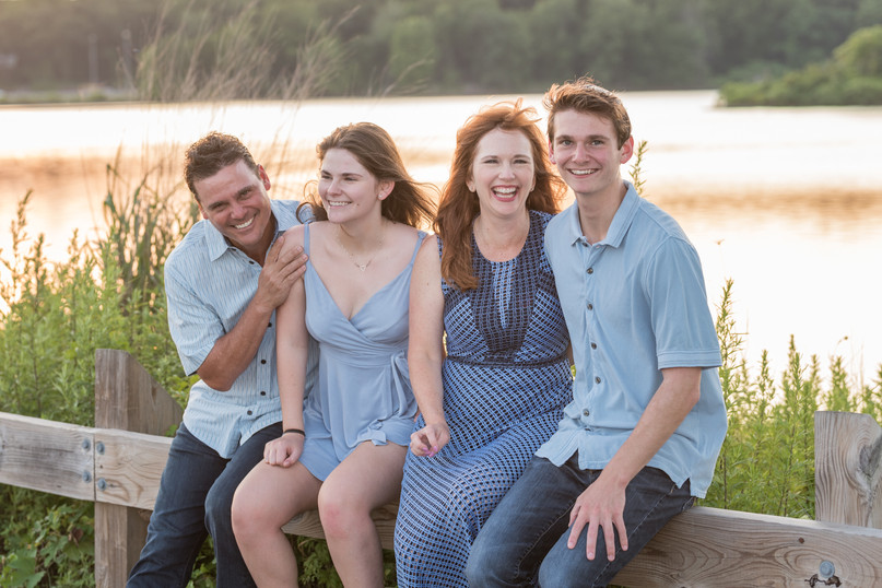 jo bryan photography family photo session outdoors park beach outdoor smiling mom dad son daughter brother sister sunset golden hour lake water smiles rye new york westchester photograher