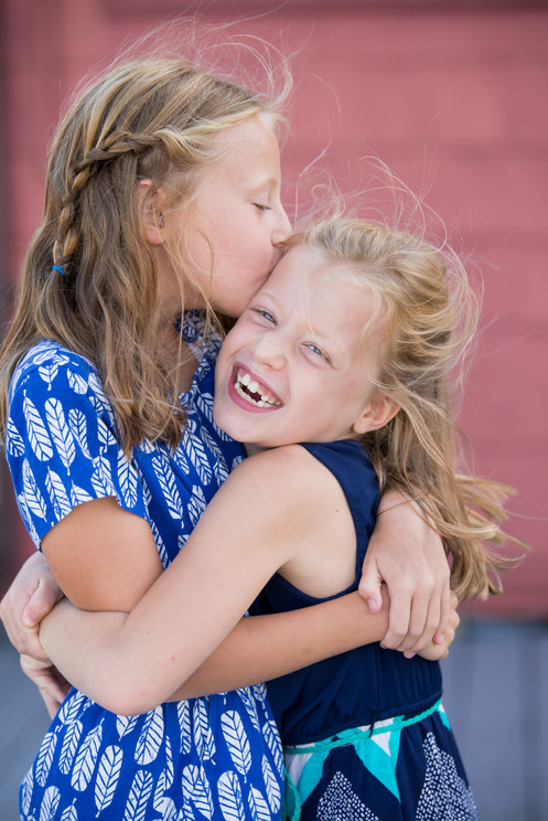 Rye NY New York Jo Bryan JoBryan photo photography solo young girls laughing sisters portrait natural light smiling summer