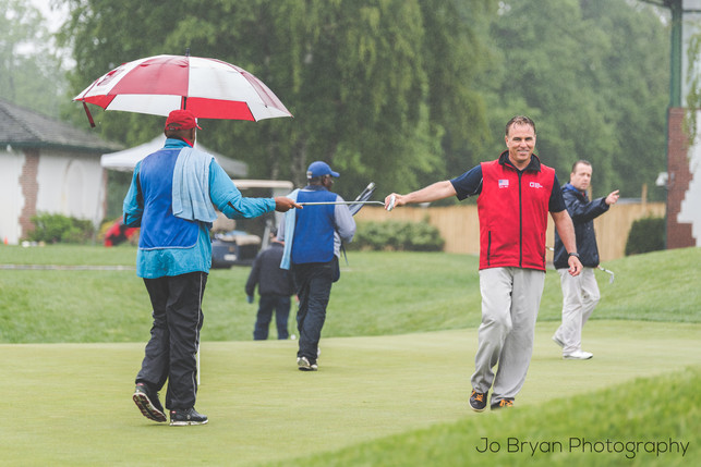 Rye NY New York Jo Bryan JoBryan photo photography photos golf oustide rain happy smiling grass course sports