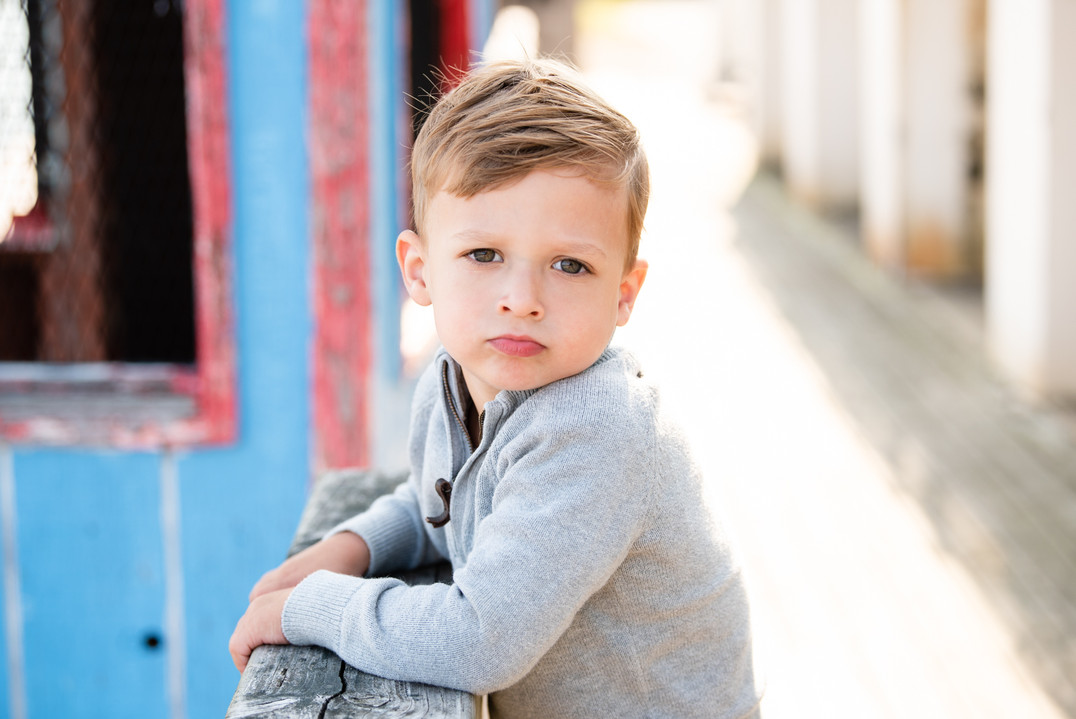 boy young gray sweater blonde hair jo bryan photography rye new york outside family session