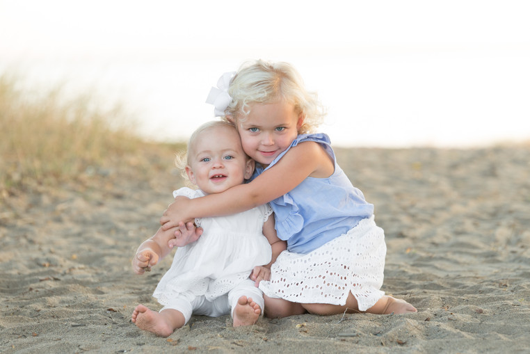 Rye NY New York Jo Bryan JoBryan photo photography solo young girls sisters laughing portrait natural light smiling beach summer sand