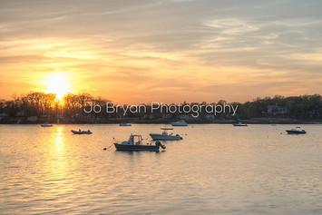 boat sunset long island sound jo bryan photography wall art