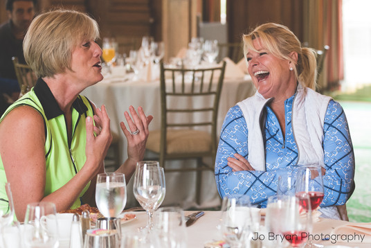 Rye NY New York Jo Bryan JoBryan photo photography photos club luncheon laughing two women inside candid