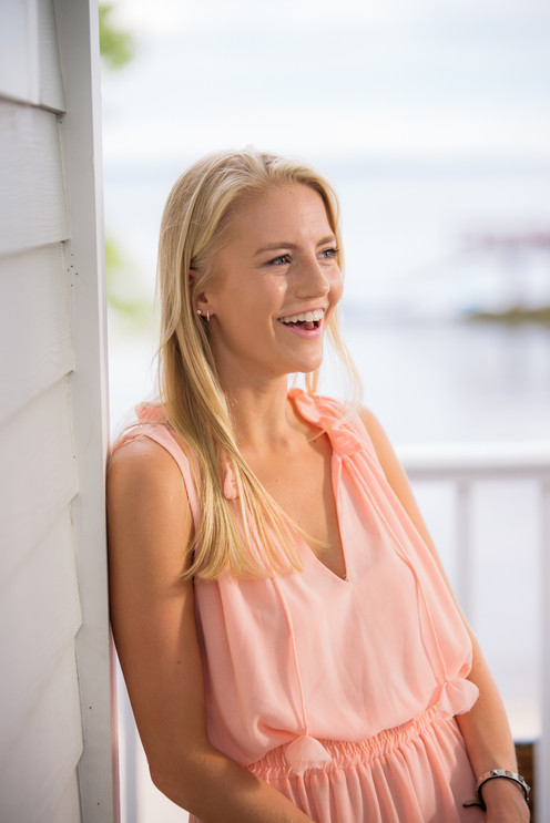 high school graduate young woman girl jo bryan photography beach rye new york westchester