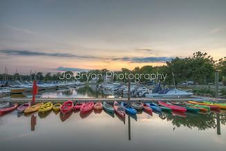 rye marina kayaks boats sunset jo bryan photography color