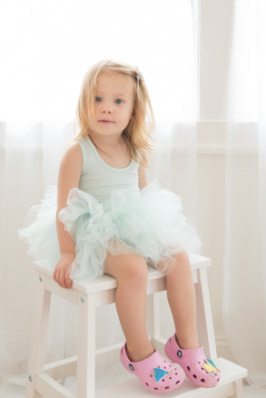 Rye NY New York Jo Bryan JoBryan photo photography solo young girl studio natural light tutu red hair