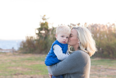 Rye NY New York Jo Bryan JoBryan photo photography photos black and white outside mother son baby blurred  background boy beach fall