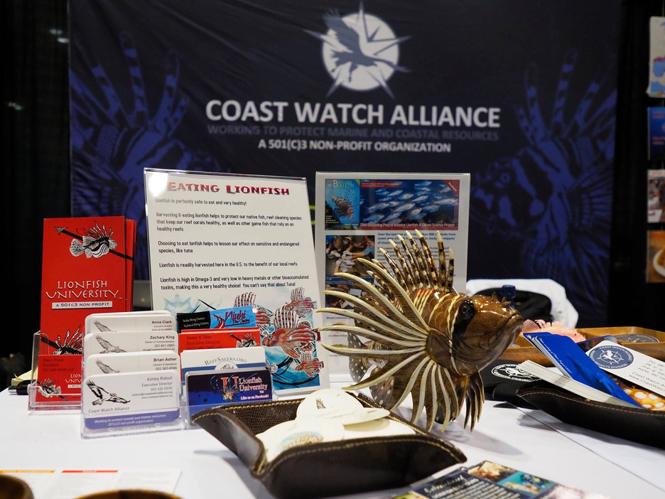 SERVING LIONFISH FACTS AND CEVICHE AT THE 2017 DEMA SHOW