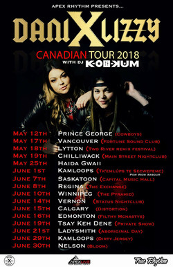 DANI AND LIZZY TOUR 2018