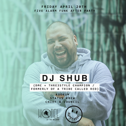 dj shub after party waldorf april 2018