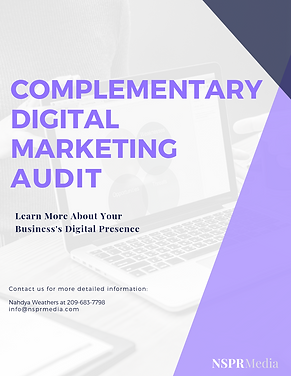 COMPLEMENTARY  DIGITAL  MARKETING  AUDIT