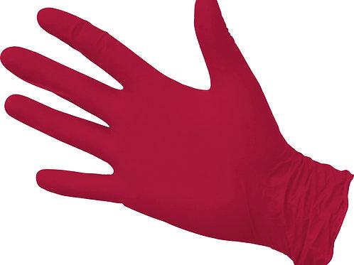 NitriMAX Перчатки из пленки полимерной нитриловые красные М,S,XS