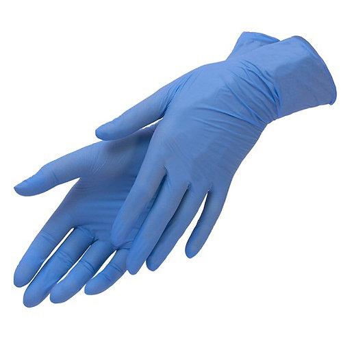 NitriMAX Перчатки из пленки полимерной нитриловые голубые XS,S,М
