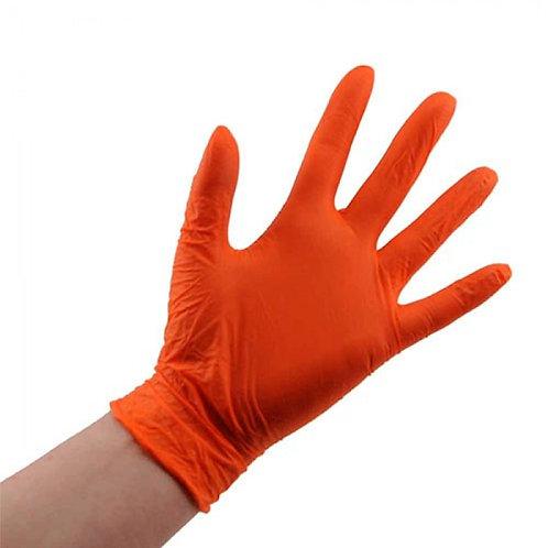 NitriMAX Перчатки из пленки полимерной нитриловые оранжевые S