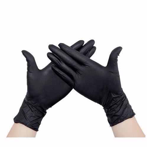 NitriMAX Перчатки из пленки полимерной нитриловые черные М,S,XS
